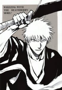 Rating: Safe Score: 5 Tags: bleach kubo_tite kurosaki_ichigo male monochrome screening User: Radioactive