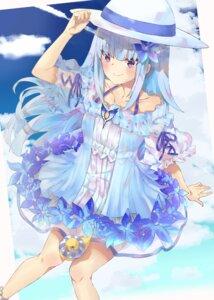 Rating: Questionable Score: 19 Tags: cottone_(highjethoo) dress lize_helesta nijisanji see_through summer_dress User: sym455