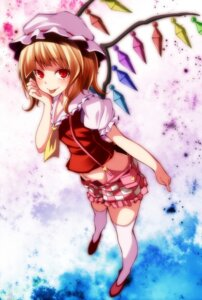 Rating: Safe Score: 21 Tags: flandre_scarlet s-syogo thighhighs touhou wings User: charunetra