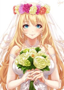 Rating: Safe Score: 32 Tags: atago_(kancolle) dress kantai_collection sakiyamama wedding_dress User: BattlequeenYume