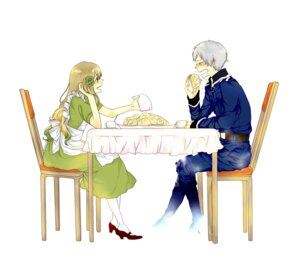 Rating: Safe Score: 7 Tags: dress hetalia_axis_powers hungary manda_chomesuke prussia User: charunetra