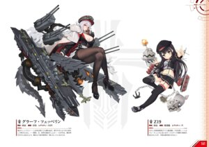 Rating: Safe Score: 11 Tags: azur_lane graf_zeppelin_(azur_lane) heels pantyhose stockings thighhighs uniform z19_hermann_kunne_(azur_lane) User: Twinsenzw