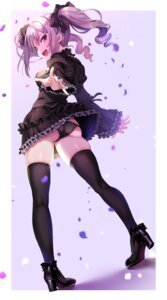 Rating: Questionable Score: 43 Tags: ass dress heels kanzaki_ranko nanatsu pantsu skirt_lift stockings the_idolm@ster the_idolm@ster_cinderella_girls thighhighs thong User: BattlequeenYume