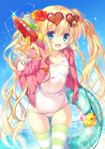 Rating: Questionable Score: 108 Tags: bandaid loli miwabe_sakura school_swimsuit swimsuits thighhighs User: fairyren