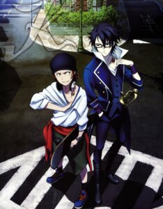 Rating: Safe Score: 10 Tags: fushimi_saruhiko headphones k male megane sword yata_misaki User: Radioactive