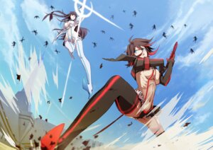Rating: Questionable Score: 50 Tags: cleavage junketsu kill_la_kill kiryuuin_satsuki matoi_ryuuko senketsu sword thighhighs xi_meng User: Radioactive