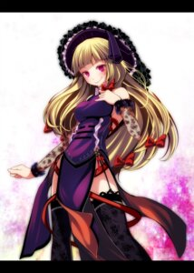Rating: Safe Score: 27 Tags: dress no_bra s-syogo see_through stockings thighhighs touhou yakumo_yukari User: charunetra