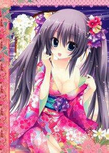 Rating: Safe Score: 80 Tags: ame_zaiku cleavage kimono no_bra nopan open_shirt shiramori_yuse User: Hatsukoi