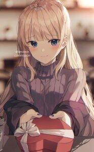 Rating: Safe Score: 37 Tags: seno_(senohime) sweater valentine watermark User: hiroimo2