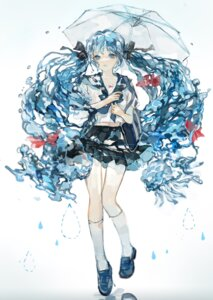 Rating: Safe Score: 17 Tags: hatsune_miku koaoto seifuku umbrella vocaloid User: Mr_GT