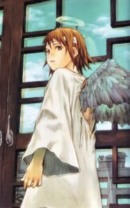 Rating: Safe Score: 9 Tags: abe_yoshitoshi haibane_renmei rakka wings User: Davison