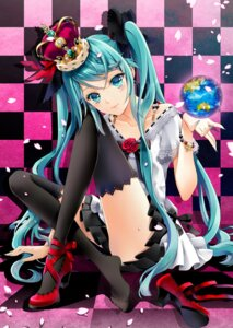 Rating: Safe Score: 62 Tags: cocoon_(loveririn) hatsune_miku thighhighs vocaloid world_is_mine_(vocaloid) User: charunetra