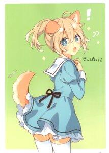 Rating: Safe Score: 26 Tags: animal_ears inumimi seifuku skirt_lift tail thighhighs tsunako User: Nepcoheart