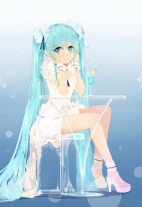 Rating: Safe Score: 47 Tags: bba1985 dress hatsune_miku heels vocaloid User: Mr_GT