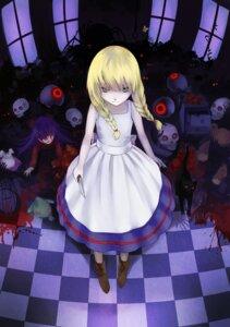 Rating: Questionable Score: 33 Tags: blood dress ellen_(the_witch's_house) gehimkaefer neko the_witch's_house viola_(the_witch's_house) weapon User: RbOH