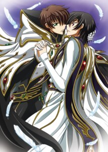 Rating: Safe Score: 10 Tags: code_geass kururugi_suzaku lelouch_lamperouge male tsunoda_wei yaoi User: yumichi-sama