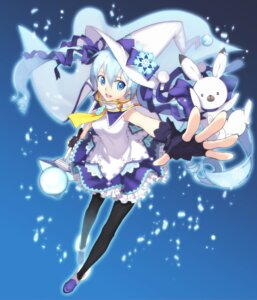 Rating: Safe Score: 22 Tags: ekorin hatsune_miku pantyhose vocaloid weapon witch yuki_miku User: animeprincess