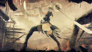 Rating: Questionable Score: 53 Tags: ass dress heels kawanakajima nier_automata pantsu sword thighhighs thong wallpaper yorha_no.2_type_b User: Nepcoheart