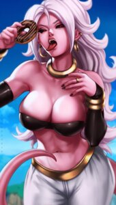 Rating: Safe Score: 26 Tags: bikini_top dandon_fuga dragon_ball majin_android_21 pointy_ears tail User: NotRadioactiveHonest