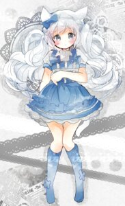 Rating: Safe Score: 29 Tags: animal_ears dress nekomimi tail tsukiyo_(skymint) User: KazukiNanako