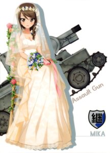 Rating: Safe Score: 24 Tags: cleavage dress girls_und_panzer mika_(girls_und_panzer) tagme wedding_dress User: drop