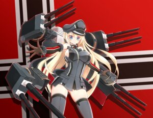Rating: Questionable Score: 23 Tags: bismarck_(kancolle) kantai_collection nejiki_rio no_bra thighhighs User: charunetra