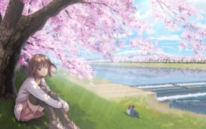 Rating: Safe Score: 22 Tags: landscape sato_seitaka sweater thighhighs User: charunetra