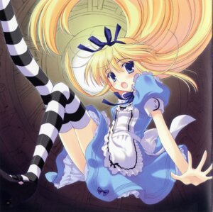 Rating: Safe Score: 33 Tags: alice alice_in_wonderland dress ice_&_choco nanao_naru screening thighhighs User: Share