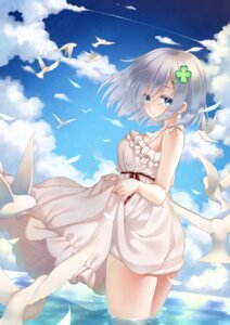 Rating: Safe Score: 53 Tags: dress hamakaze_(kancolle) kantai_collection rensanma skirt_lift summer_dress wet User: fairyren