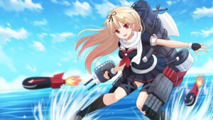 Rating: Safe Score: 29 Tags: kantai_collection kazenokaze seifuku wallpaper weapon yuudachi_(kancolle) User: Mr_GT