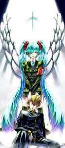 Rating: Safe Score: 12 Tags: churayuki hatsune_miku kagamine_len vocaloid wings User: charunetra