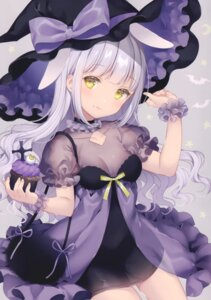 Rating: Questionable Score: 52 Tags: animal_ears bunny_ears cleavage dress see_through w.label wasabi_(artist) witch User: Radioactive