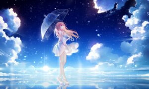 Rating: Safe Score: 73 Tags: cleavage dress heels heterochromia niya no_bra tid umbrella User: RyuZU