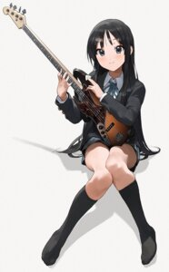 Rating: Safe Score: 34 Tags: akiyama_mio feet guitar k-on! mossi seifuku skirt_lift User: Mr_GT