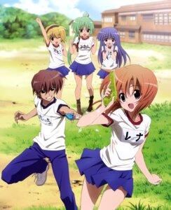 Rating: Safe Score: 28 Tags: furude_rika gym_uniform higurashi_no_naku_koro_ni houjou_satoko maebara_keiichi ryuuguu_rena sakai_kyuuta sonozaki_mion User: Radioactive