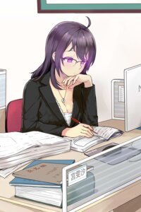 Rating: Safe Score: 19 Tags: beifeng_han business_suit cleavage megane miyaura_sanshio User: mash