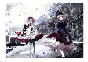 Rating: Safe Score: 39 Tags: alice_margatroid alice_margatroid_(young) cierra_(artist) dress gap gothic_lolita heels lolita_fashion pantyhose ringlet touhou wa_lolita User: fireattack