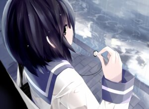 Rating: Safe Score: 40 Tags: headphones mizushirazu seifuku User: SciFi