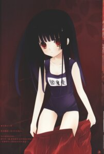 Rating: Safe Score: 13 Tags: enma_ai jigoku_shoujo ririka school_swimsuit swimsuits User: Radioactive