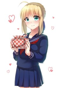 Rating: Safe Score: 17 Tags: fate/stay_night ichiren_namiro saber seifuku User: charunetra