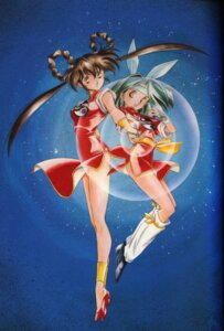 Rating: Questionable Score: 6 Tags: binding_discoloration chinadress devil_hunter_yohko kanzaki_azusa mano_yohko User: Rock