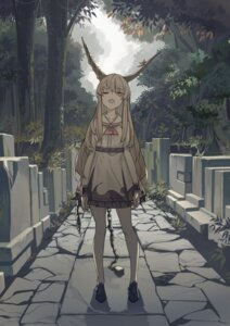 Rating: Safe Score: 43 Tags: azling dress horns ibuki_suika touhou User: BattlequeenYume