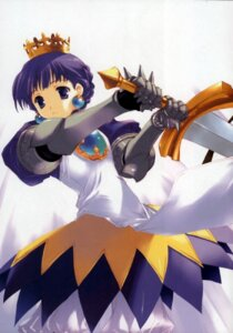 Rating: Safe Score: 11 Tags: cut_a_dash!! gradriel mitsumi_misato paper_texture princess_crown sword User: fireattack