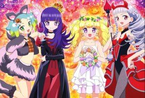 Rating: Safe Score: 17 Tags: animal_ears dress fishnets halloween hanazono_shuuka hara_shouji horns idol_time_pripara kouda_michiru nijiiro_nino pantyhose tail yumekawa_yui User: drop