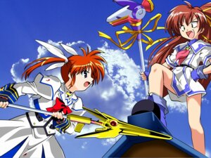 Rating: Safe Score: 9 Tags: aoi_umi_no_tristia crossover deep-blue_series jpeg_artifacts mahou_shoujo_lyrical_nanoha mahou_shoujo_lyrical_nanoha_a's nanoca_flanka takamachi_nanoha User: xu04bj35265