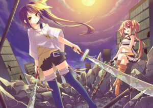 Rating: Safe Score: 15 Tags: amene_kurumi sword thighhighs User: chennengping