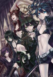 Rating: Safe Score: 31 Tags: bikini_top black_devil_girl black_gold_saw black_matagi black_rock_shooter black_rock_shooter_(character) cleavage dead_master dress ethanol eyepatch horns megane sword vocaloid User: ZLAY
