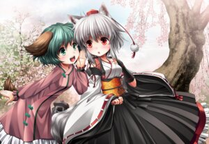 Rating: Safe Score: 33 Tags: animal_ears inubashiri_momiji japanese_clothes kasodani_kyouko kei_traum tail touhou User: mula3
