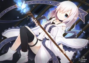 Rating: Safe Score: 69 Tags: garter isuzu_ren puella_magi_madoka_magica thighhighs wakagitsukiha weapon User: MurakumoJP