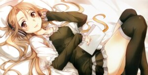 Rating: Safe Score: 84 Tags: abec ass asuna_(sword_art_online) dress headphones sword_art_online thighhighs User: charunetra